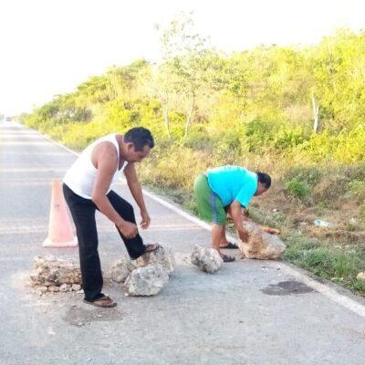 """Levantan filtro sanitario en la entrada de la comunidad """"Señor"""" en Felipe Carrillo Puerto"""