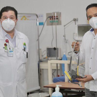 Tras recorrido de supervisión, declara Carlos Joaquín listas las instalaciones hospitalarias reconvertidas en el Cenaltur de Playa del Carmen