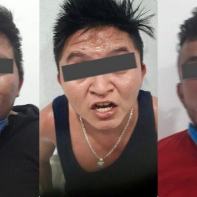 Tras un violento sábado, detienen a tres presuntos sicarios en Tulum
