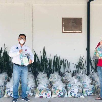 Empresarios donan 300 despensas para familias de escasos recursos en Chetumal