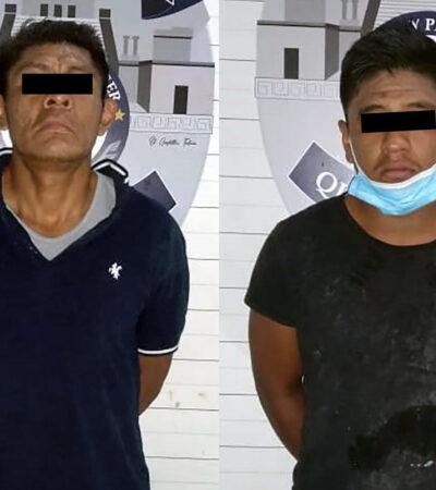 Detienen a cuatro sujetos por portar armas prohibidas en la Sm 526 de Cancún