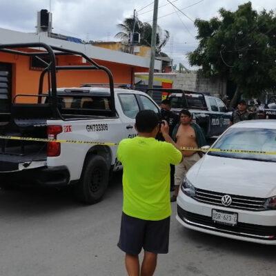 Le disparan a motociclista en colonia de Cozumel