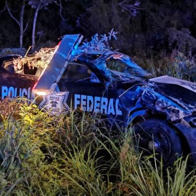 Se accidenta elemento de la Policía Federal en Cancún durante la madrugada