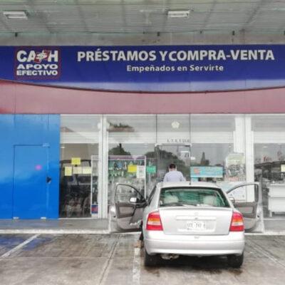 Sujetos asaltan casa de empeño y se llevan más de 30 mil pesos en Cancún
