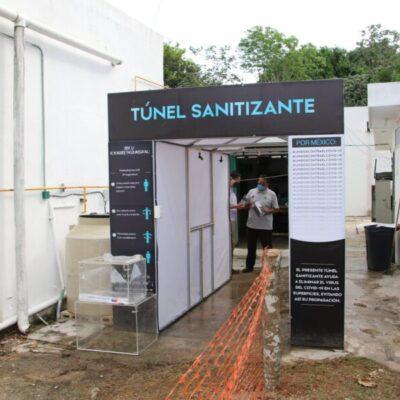 Donan túnel sanitizante para el Hospital Integral de José María Morelos