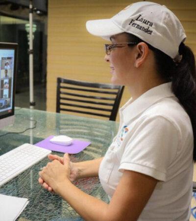 Dialoga Laura Fernández con integrantes de la Red Mundial de Jóvenes Políticos