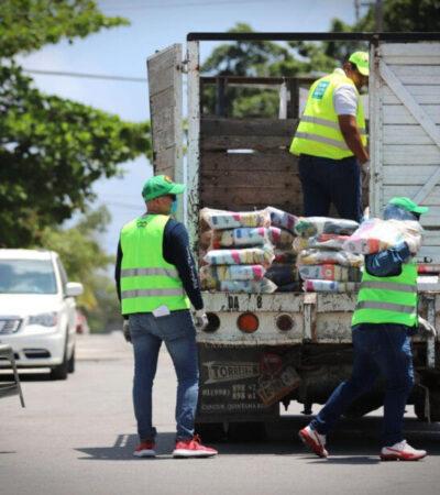 Anuncian entrega de 7 mil despensas más en Puerto Morelos