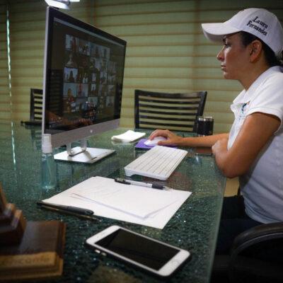 Alcaldesa de Puerto Morelos trabaja con hoteleros y prestadores de servicios turísticos para el relanzamiento del destino, luego de que se supere la emergencia sanitaria