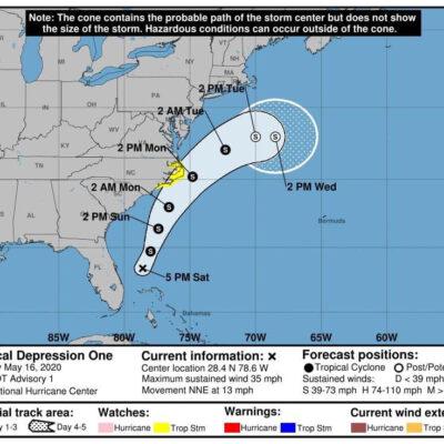 Cerca de formarse el primer huracán del año en el Atlántico