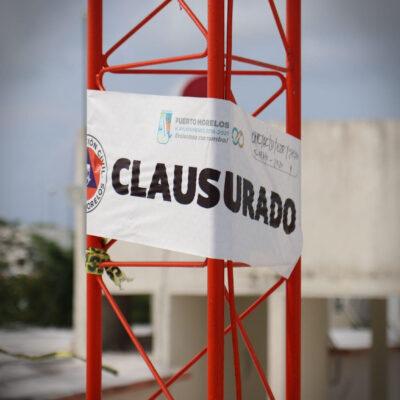 Retiran antena irregular de casi 20 metros de altura en fraccionamiento Villas La Playa en Puerto Morelos
