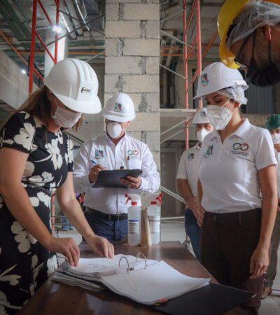 Revisan cumplimiento de protocolos de salud en obras, al reactivarse el sector de la construcción en Puerto Morelos