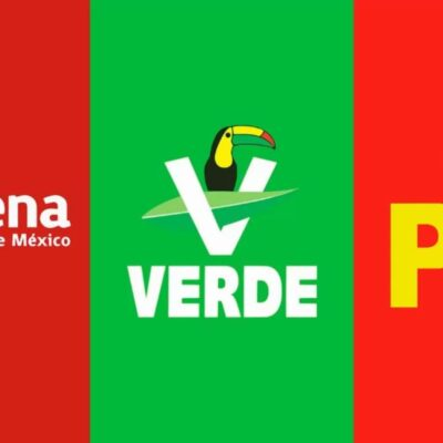 Morena, Verde y PT anuncian frente para defensa de la 4T