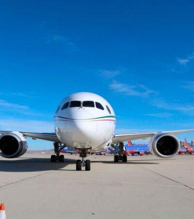 Avión presidencial podría ser vendido este mismo mes, asegura AMLO