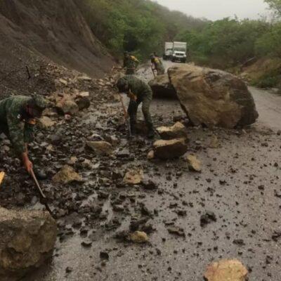 Un muerto y deslaves deja la tormenta tropical 'Cristóbal' en Chiapas