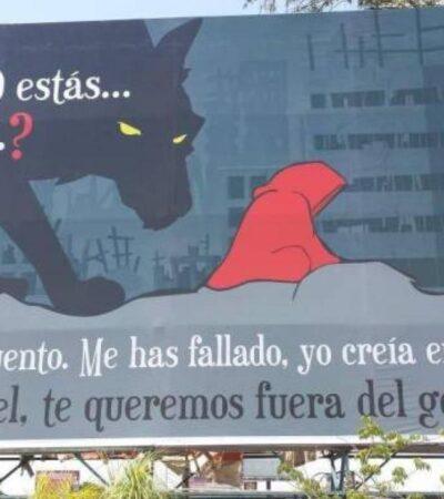 'PARA TU CUENTO, ME HAS FALLADO': Lanzan Campaña contra AMLO en Guadalajara