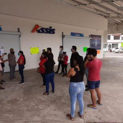 Se manifiestan nuevamente trabajadores de Assis para exigir liquidación justa en Chetumal