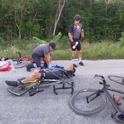 Ciclista arrollado en Cancún, en riesgo de perder pierna; familia pide ayuda
