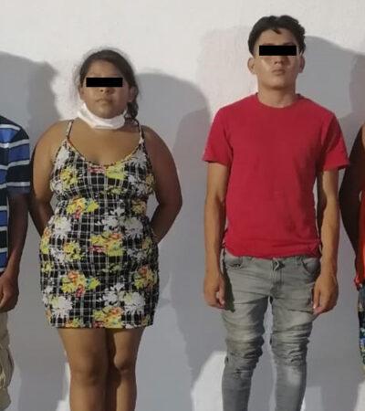 Detienen a 4 personas por robo a comercios; se les vincula con más de 20 atracos en Cancún