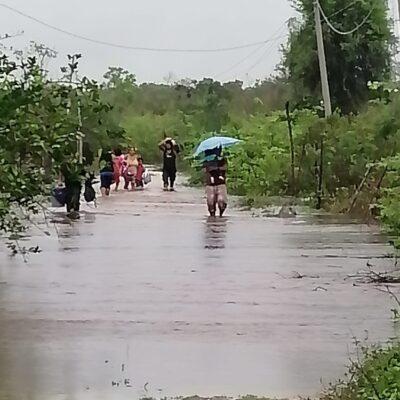 """""""TODO SE LO LLEVÓ LA CORRIENTE"""": Escurrimientos causan pérdidas materiales en zona limítrofe de Quintana Roo"""