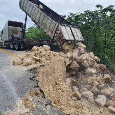 Restablece SCT movilidad en un carril de la carretera Chetumal-Escárcega