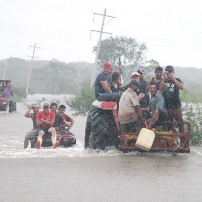 Lluvias dejan importantes pérdidas en comunidades de centro y sur del estado