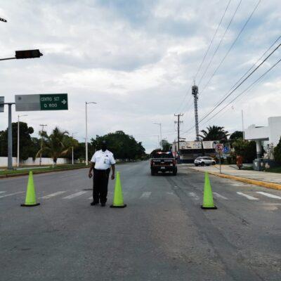 Cierran nuevamente calles a la circulación en Chetumal ante elevado número de casos de COVID-19