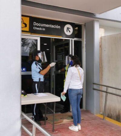 Reinicia la actividad aérea con la llegada de 50 pasajeros al Aeropuerto de Chetumal