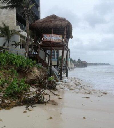 Regresa la erosión a playas de la Riviera Maya