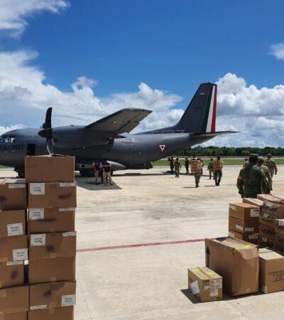 Llegan otras 2.5 toneladas de insumos para hospitales Insabi Covid-19 a Chetumal