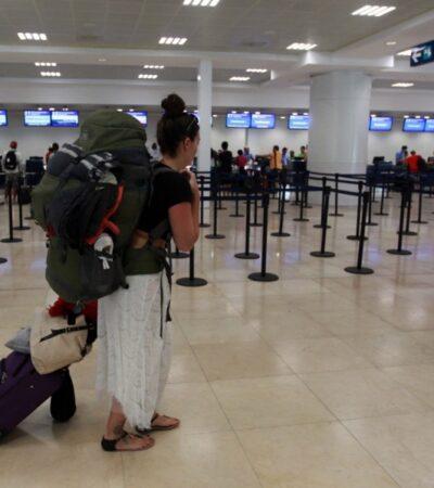 Aeropuerto Internacional de Cancún mantiene 20 vuelos internacionales diarios