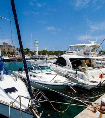 Embarcaciones siguen varadas en marina cozumeleña por falta de recursos de los propietarios