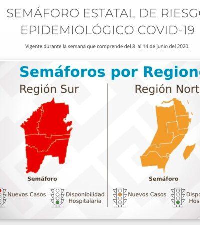 EMPIEZA REAPERTURA DE QR CON SEMÁFORO EPIDEMIOLÓGICO BICOLOR: Asignan a la Zona Norte color 'naranja'; la Zona Sur seguirá en rojo