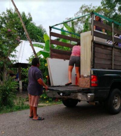 Habitantes de comunidad carrilloportense huyen por temor a inundación
