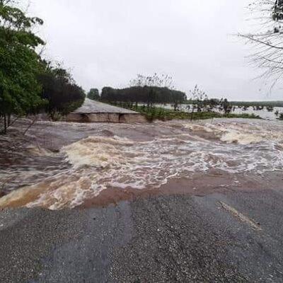 Atiende SCT afectación de carreteras entre los límites de Quintana Roo y Campeche