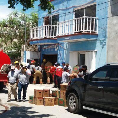 ¡SE QUEMA LA CHEVE!: Salvan de incendio bodega repleta de cervezas en Tulum