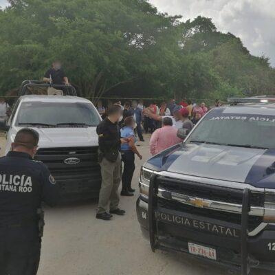 REVIERTEN INVASIÓN EN AKUMAL: Recupera FGE dos predios ocupados ilegalmente por familias en la Riviera Maya