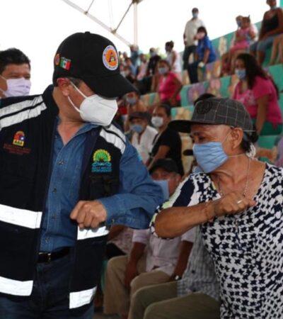 Despliegan tres planes emergentes para apoyar a familias de Quintana Roo por COVID-19, inundaciones y contra la proliferación de moscos