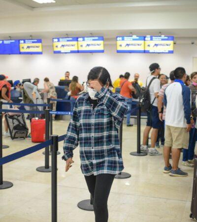 CIFRAS A LA ALZA: Aeropuerto de Cancún cerca de las 100 operaciones en un día