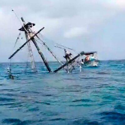 Reportan hundimiento de emblemático Barco Pirata de Cozumel