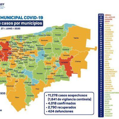 REBASA YUCATÁN LOS CUATRO MIL CONTAGIOS: Reportan 103 nuevos casos de COVID-19 en Mérida y el estado suma 424 decesos acumulados