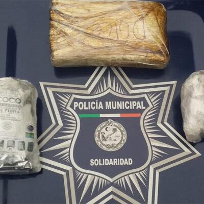Detienen a menor de edad con tres paquetes de droga en Playa del Carmen