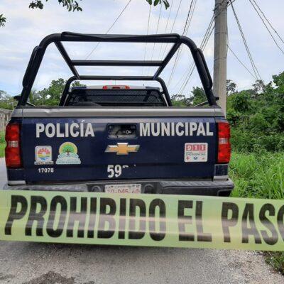 EJECUTADO EN CANCÚN: Encuentran en la periferia de la ciudad cuerpo embolsado y acompañado de una cartulina