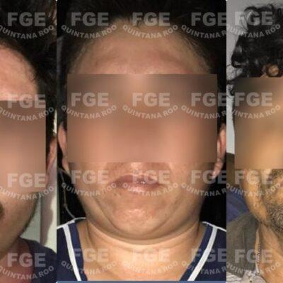 Detiene la FGE a tres sujetos y asegura drogas tras cateo en Chetumal