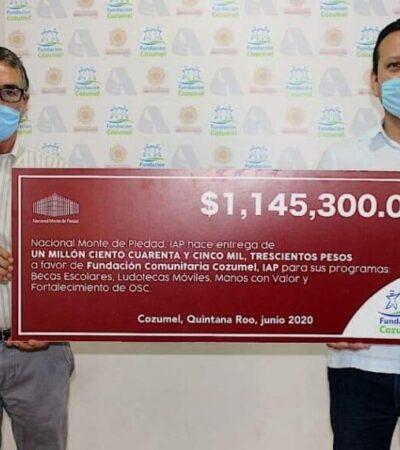 Recibe donativo la Fundación Comunitaria Cozumel para becas, ludotecas y programas sociales
