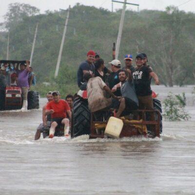 RECUENTO DE LOS DAÑOS POR LLUVIAS: 300 kilómetros de carreteras, 70 poblaciones y 6,700 familias afectadas, el saldo de 'Cristóbal'