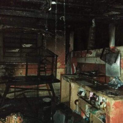 Incendio deja sin casa y sin patrimonio a familia chetumaleña