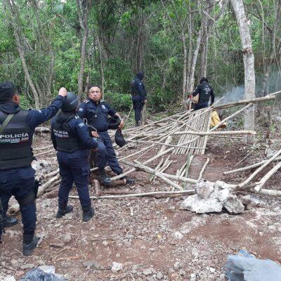 Evitan invasión en terrenos cercanos a la Academia de Policía en Cancún