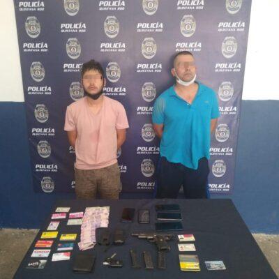 Detienen en Chetumal a dos sinaloenses armados que amenazaron a una mujer