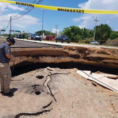 NEGLIGENCIA Y OMISIÓN EN EL SOCAVÓN: Aseguran que constructora no realizó los estudios para evitar hundimientos como el de la vía Playa-Tulum