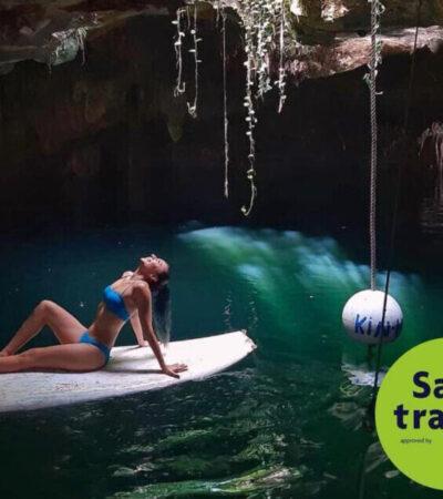 """Empresas de Puerto Morelos obtienen el sello """"Safe Travels"""" del Consejo Mundial de Viajes y Turismo"""